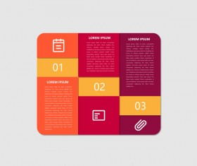 Dark red infographic template vectors 06