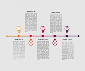 Dark red infographic template vectors 08