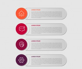 Dark red infographic template vectors 09