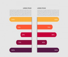 Dark red infographic template vectors 10