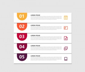 Dark red infographic template vectors 17