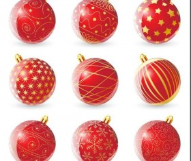 Decor christmas balls illustration vector 01