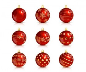 Decor christmas balls illustration vector 02