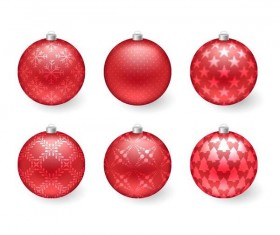 Decor christmas balls illustration vector 04
