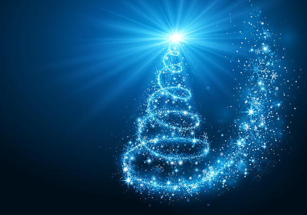 Dream magic christmas tree with xmas background vector 02