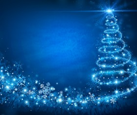 Dream magic christmas tree with xmas background vector 06