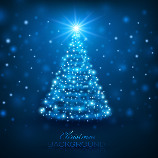 Dream magic christmas tree with xmas background vector 07