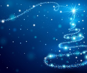 Dream magic christmas tree with xmas background vector 08