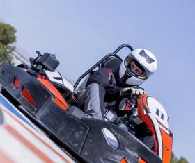 Driving Kart Racing man Stock Photo 01