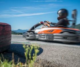 Driving Kart Racing man Stock Photo 03