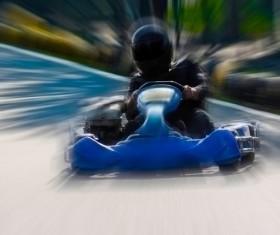 Driving Kart Racing man Stock Photo 04
