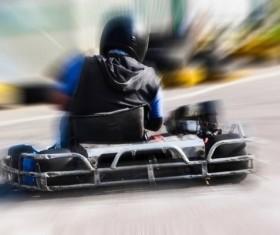 Driving Kart Racing man Stock Photo 05