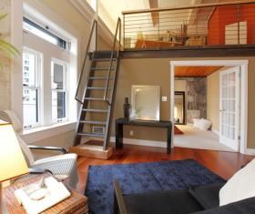 Duplex room Stock Photo