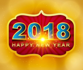 Ethnic style 2018 new year background vector 02