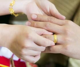 Exchange wedding ring Stock Photo