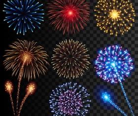 Festival fireworks illustrations vector