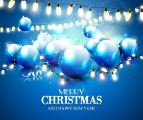 Festive lanterns with christmas and new year background vector