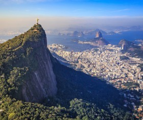 Filming the mountain Jesus of Rio de Janeiro from different angles Stock Photo 01