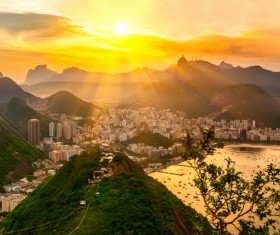 Filming the mountain Jesus of Rio de Janeiro from different angles Stock Photo 04