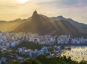 Filming the mountain Jesus of Rio de Janeiro from different angles Stock Photo 05