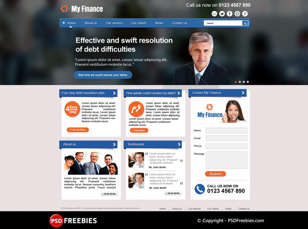 Finance business website corporate psd theme