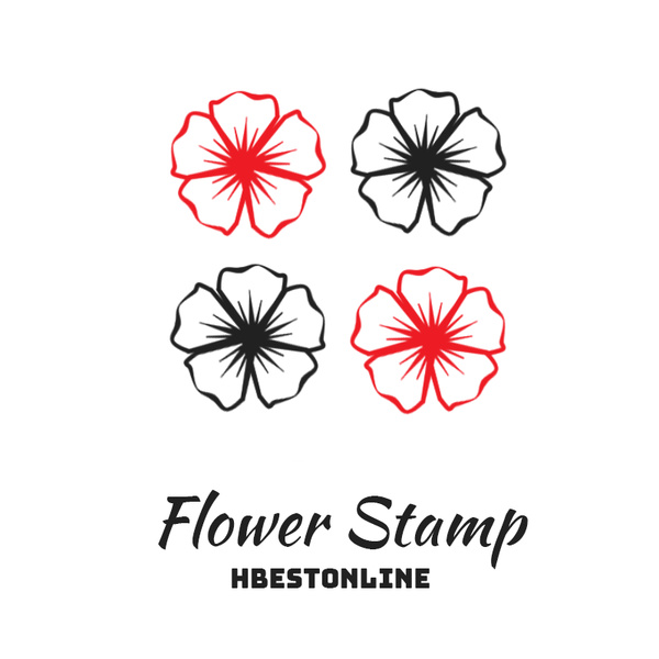 Flower Stamp photoshop brushes