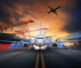 Freight Shipping & Transport Logistics Stock Photo 01