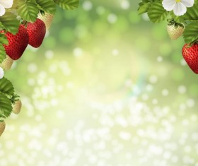 Fresh strawberry with blurs background vector