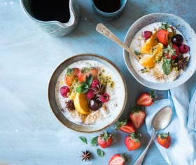 Fruit oatmeal Stock Photo