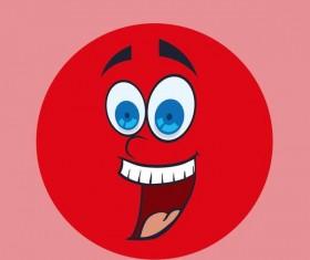 Funny cartoon face expression design vector 01