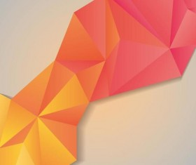 Geometric polygons abstract background vectors material 01
