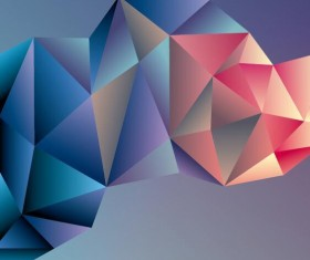 Geometric polygons abstract background vectors material 03