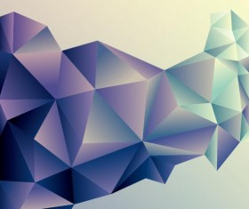 Geometric polygons abstract background vectors material 06