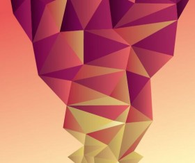 Geometric polygons abstract background vectors material 07