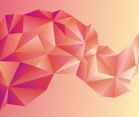 Geometric polygons abstract background vectors material 08