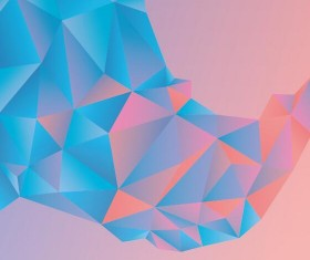 Geometric polygons abstract background vectors material 09
