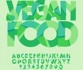 Geometric shape green alphabet vector