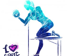 Girl love sport vector illustration