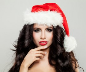 Girl with christmas hat Stock Photo 10