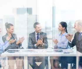 Good atmosphere business meeting Stock Photo 01