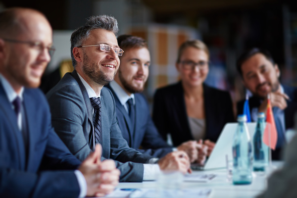 Good atmosphere business meeting Stock Photo 06