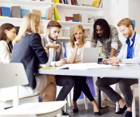 Good atmosphere business meeting Stock Photo 07