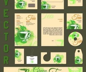 Green tea vector kit