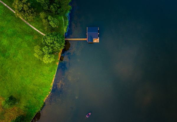 Guntersville Lake in the United States Stock Photo
