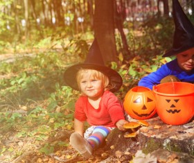 Halloween children Stock Photo 01