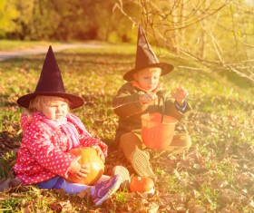 Halloween children Stock Photo 02