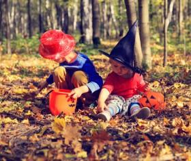 Halloween children Stock Photo 04