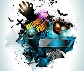 Halloween party flyer template design vector 04
