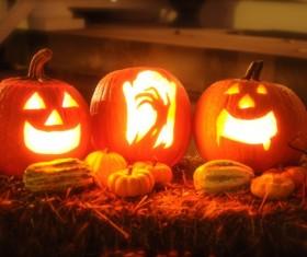 Halloween pumpkin lights Stock Photo