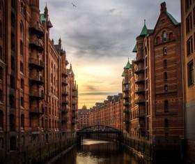 Hamburg Germany Speicherstadt Stock Photo